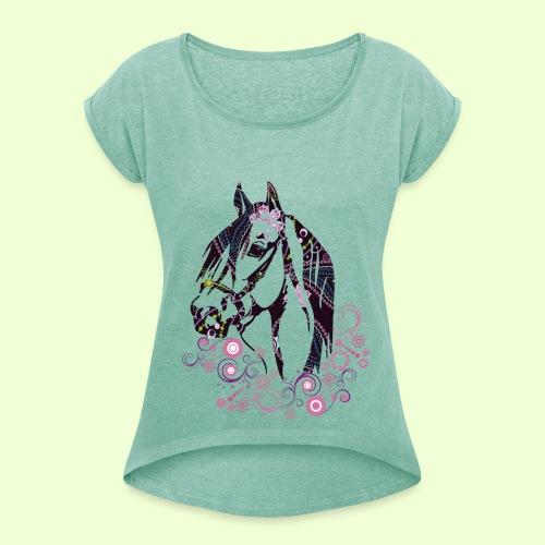 linea Cavallo - Maglietta da donna con risvolti