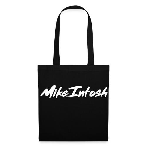 Stofpose med hvidt tryk - Mulepose
