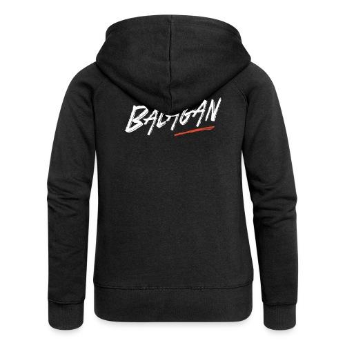 Balagan, Black Hoodie zip, logo back, Girlz - Women's Premium Hooded Jacket