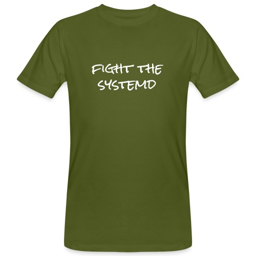 fight the systemd - Männer T-Shirt - Männer Bio-T-Shirt