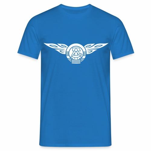 DDR Flammen Wappen 1c - Men's T-Shirt