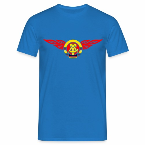 DDR Flammen Wappen 3c - Men's T-Shirt