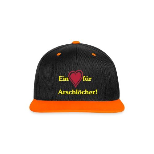 Ein Herz für Arschlöcher! - Kontrast Snapback Cap