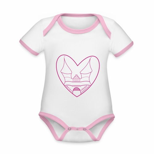 Baby Bio-Kurzarm-Kontrastbody