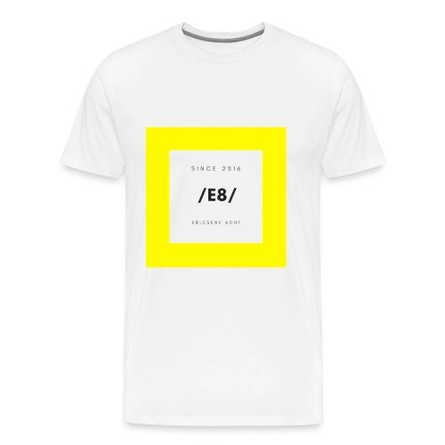 Gelb-Weiß - Männer Premium T-Shirt