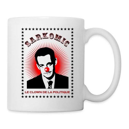 Sarkomic le clown de la politique - Mug blanc
