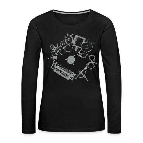 Lazy Susan Musician - Women's Premium Longsleeve Shirt