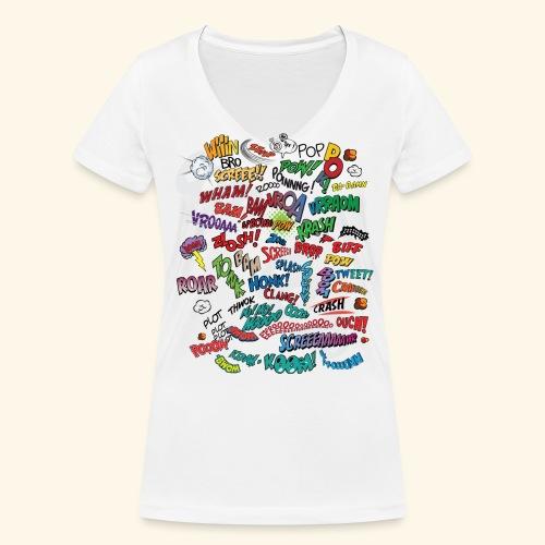 FWSBerlin Lady Comic Explosion 2018 - Frauen Bio-T-Shirt mit V-Ausschnitt von Stanley & Stella