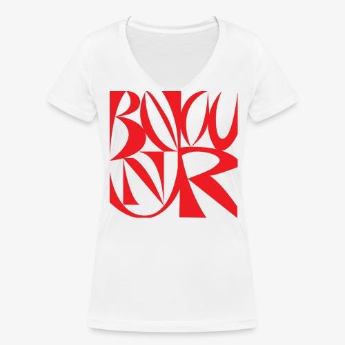 ti-shirt bonjour femme - T-shirt bio col V Stanley & Stella Femme