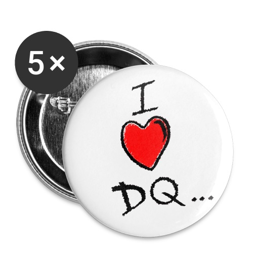 I Heart DQ 5 Pack badges - Buttons small 25 mm