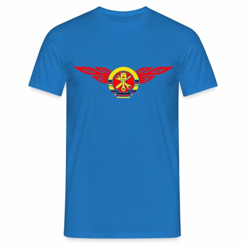 KFZ Flammen Wappen 3c - Men's T-Shirt