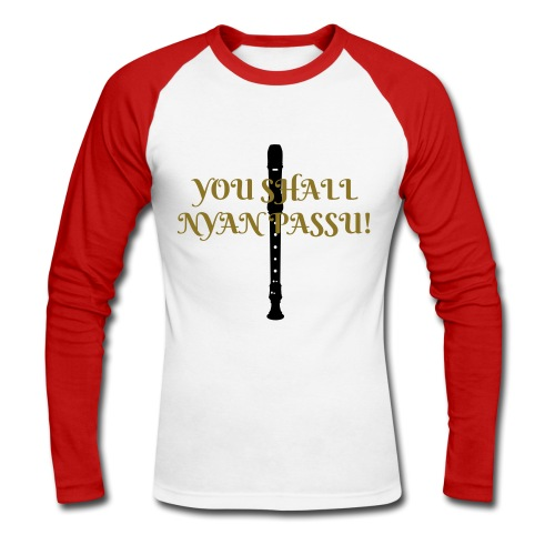 You shall nyan passu! - Men's Long Sleeve Baseball T-Shirt