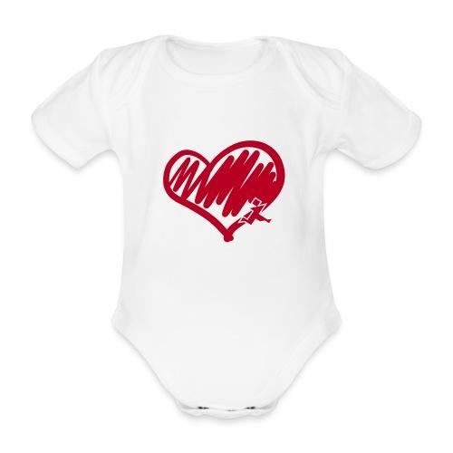 Herz flock (kurzarm) - Baby Bio-Kurzarm-Body