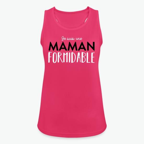 débardeur Maman formidable fuchsia par Tshirt Family