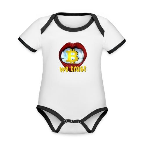 Baby Kurzarm Body Weiss mit schwarzen Kontrasten #1 - Baby Bio-Kurzarm-Kontrastbody