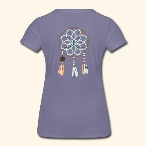 Standard t-shirt, drömfångare på ryggen, insvängd - Premium-T-shirt dam