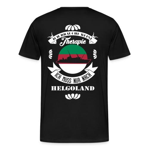 Helgoland mit der MS Helgoland in schwarz - Männer Premium T-Shirt von Hinten - Männer Premium T-Shirt