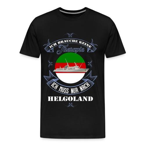 Helgoland mit der MS Helgoland in Farbe - Männer Premium T-Shirt - Männer Premium T-Shirt