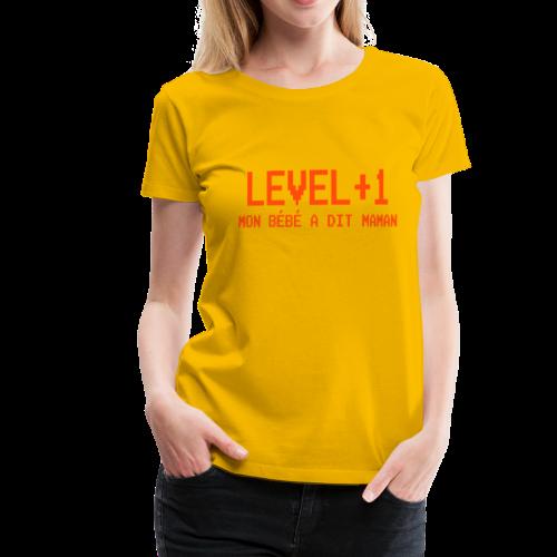 Level+1 Bébé maman - T-shirt Premium Femme