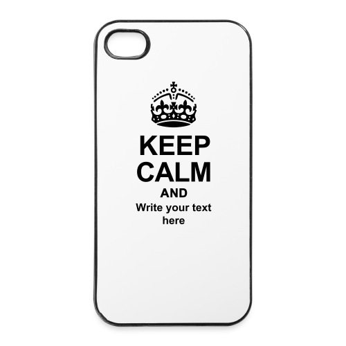 Keep Calm and Edit Text! - iPhone 4/4s Hard Case