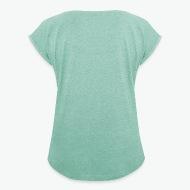 T-shirt Je ne ronfle pas !!! menthe chiné par Tshirt Family