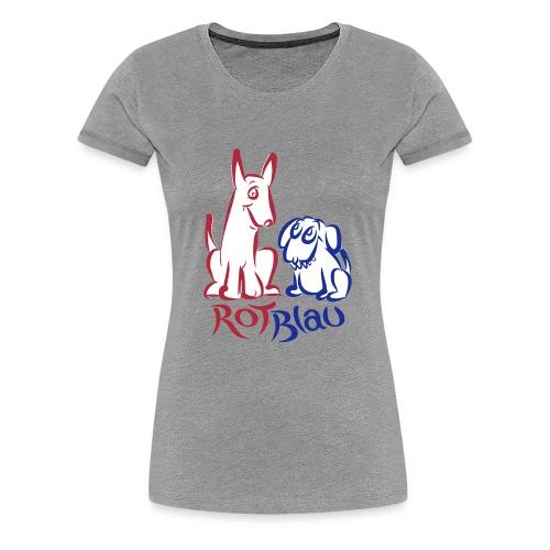 Rot Blau - Frauen Premium T-Shirt