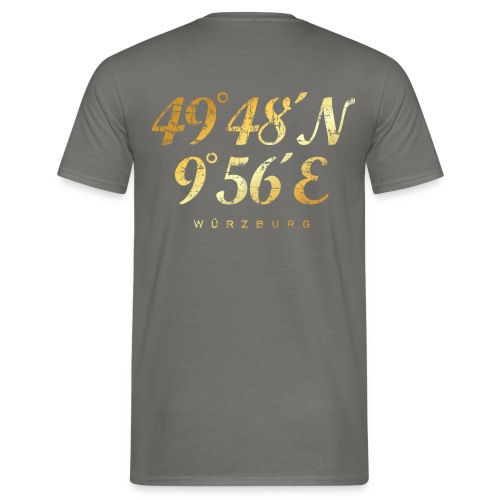 Würzburg Koordinaten T-Shirt (Vintage Gold) - Männer T-Shirt