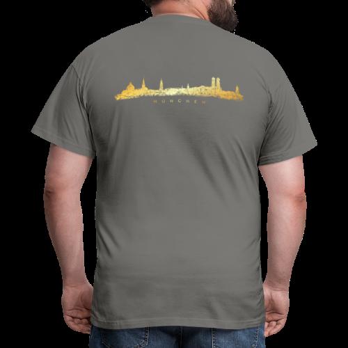 München Skyline T-Shirt (Vintage Gold) - Männer T-Shirt