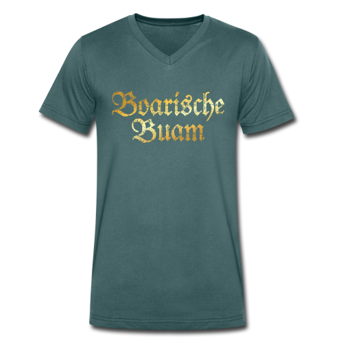 Boarische Buam Bio T-Shirt (Vintage Gold) - Männer Bio-T-Shirt mit V-Ausschnitt von Stanley & Stella