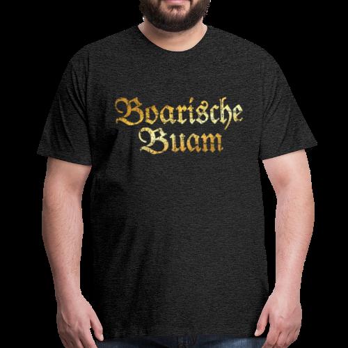Boarische Buam T-Shirt (Vintage Gold) - Männer Premium T-Shirt