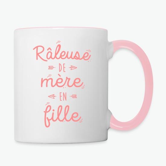 Mug Râleuse de mère en fille blanc/rose par Tshirt Family