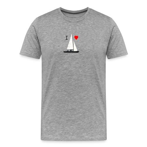 01 T-Shirt  I love sailing - Männer Premium T-Shirt