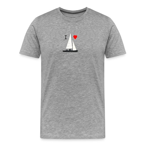 01 T-Shirt  I love sailing - Männer Premium T-Shirt