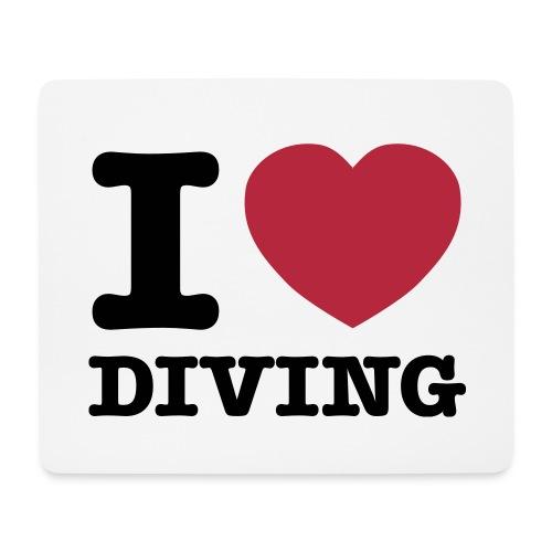 Tapis de souris I love diving - Tapis de souris (format paysage)
