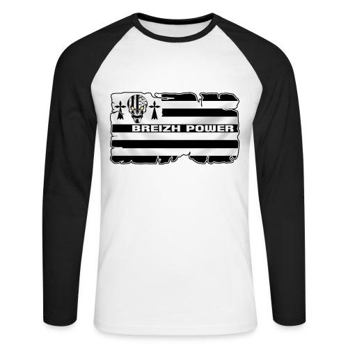 Breizh Skull Power - T-shirt baseball manches longues Homme