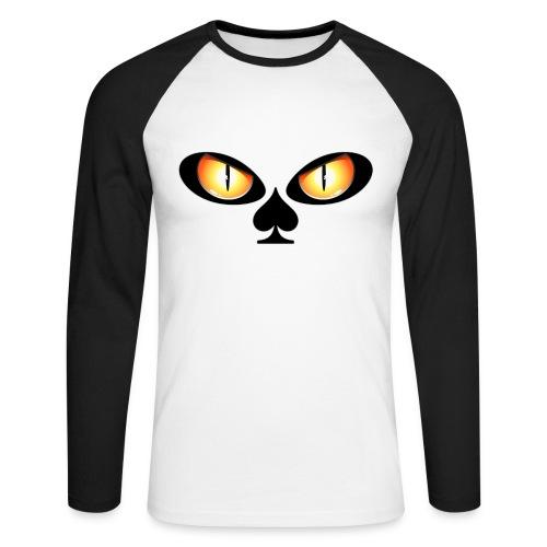 Eyes poker - T-shirt baseball manches longues Homme
