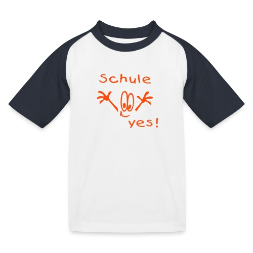 Schule - Kinder Baseball T-Shirt