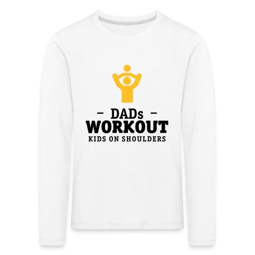 Papas workout mit Kind auf Schultern Langarmshirts - Kinder Premium Langarmshirt