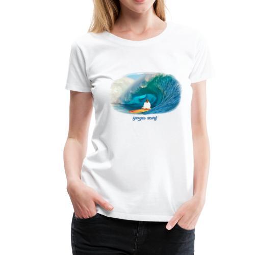 Yoga surf - Premium-T-shirt dam