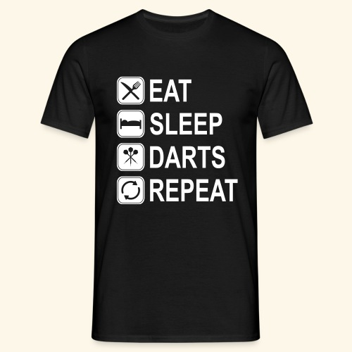 Eat, Sleep, Darts, Repeat - Männer T-Shirt