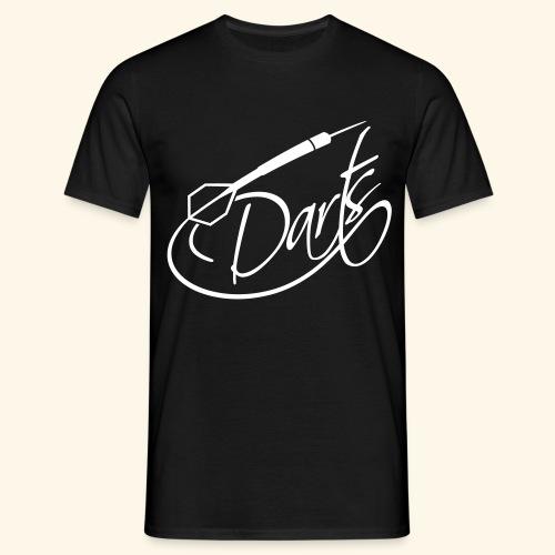 Darts written - Männer T-Shirt