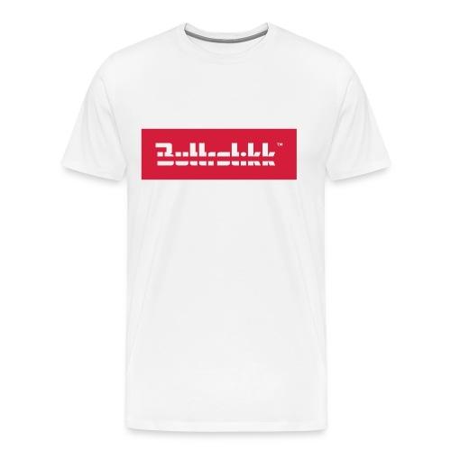 Buttrstikk Logo, weiß - Männer Premium T-Shirt