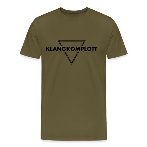 Klangkomplott Basic Logo Shirt Brown - Männer Premium T-Shirt