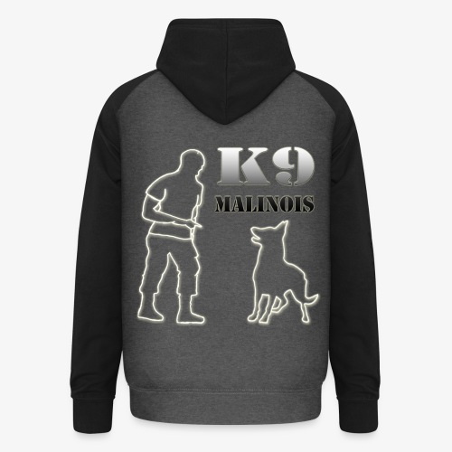 SWEAT A CAPUCHE K9 MALINOIS - Sweat-shirt baseball unisexe