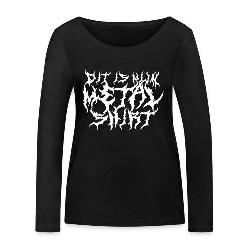 Metalshirt vrouwen lange mouwen bio - Vrouwen bio shirt met lange mouwen van Stanley & Stella