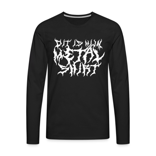 Metalshirt mannen lange mouwen - Mannen Premium shirt met lange mouwen