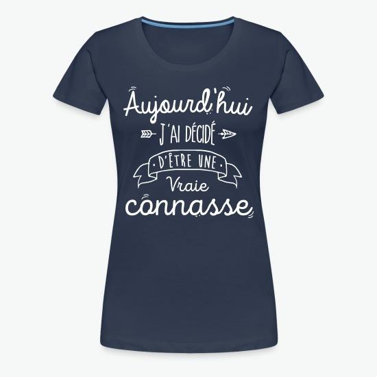 Tee shirt Vraie connasse bleu marine par Tshirt Family