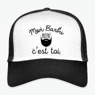 Trucker Cap Mon Barbu préféré c'est toi blanc/noir par Tshirt Family