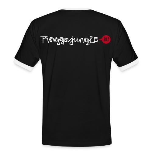 Shirt Raggajungle.biz black white - Men's Ringer Shirt