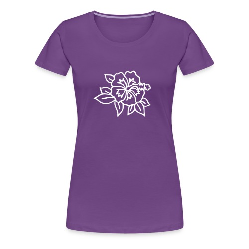 Hibiskus Bio-Shirt - Frauen Premium T-Shirt